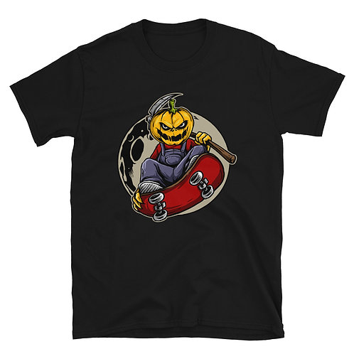 Scary pumpkin on his sled, Halloween day,Halloween Tshirt for women and men
