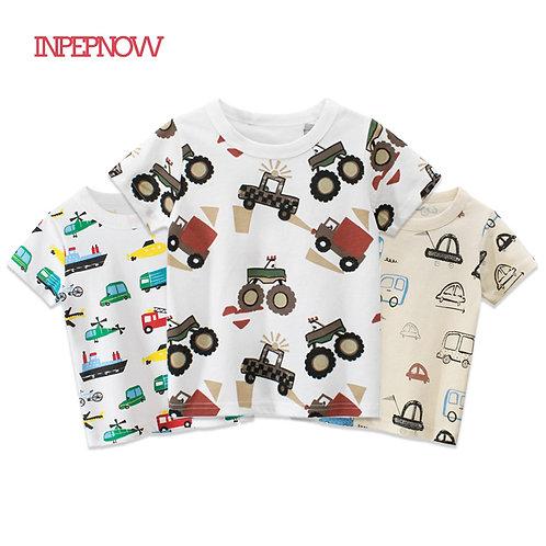 INPEPNOW 2020 Children T-Shirt for Boy TShirts Car Girls Tops Cotton Kids tshirt