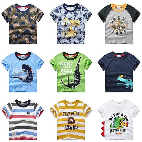 INPEPNOW Summer Children Clothing Boys Casual Cute T-Shirt 2-10y