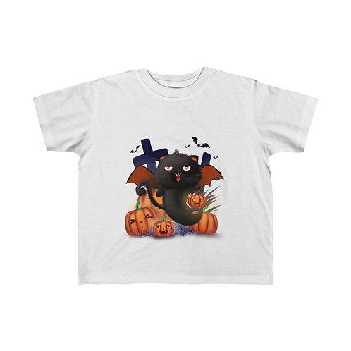 Halloween Cat, Halloween Party, Halloween Ghost, Halloween Kid's Fine Jersey Tee