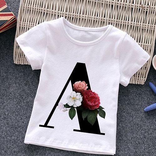 Unisex Summer New TShirt Fashion Alphabet Girls Tshirts Harajuku Retro Boy shirt