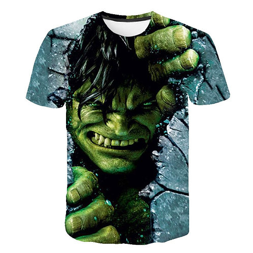 Kids Boys Hero Hulk TShirts 3d Print Clothes Children Summer Short Sleeve Tshirt