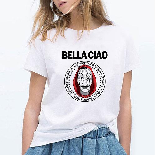 Money Heis Fashion BELLA CIAO T-Shirt Cute Kawaii La Casa De Papel T Shirts