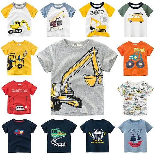 INPEPNOW 2020 Children's T-Shirt for Boys T Shirt Car Cotton Tops Child T-Shirts