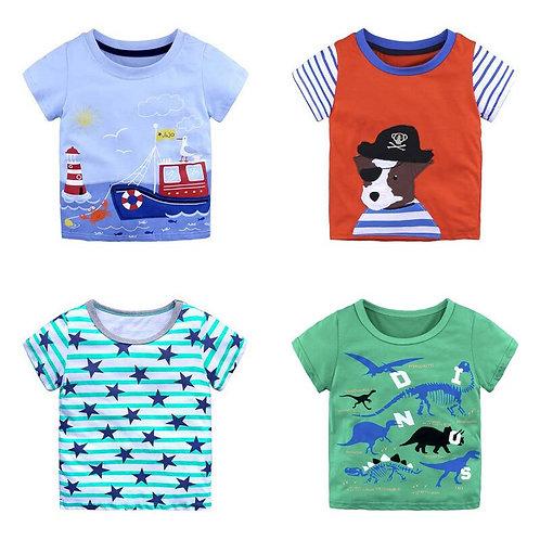 Summer T Shirt for Boy,Top Kids Boys T Shirt Short Sleeve Cotton T Shirt