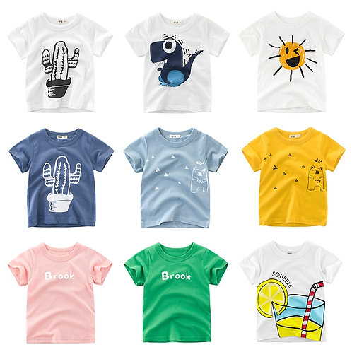 Boys TShirt Girls Kids Children Cotton Clothing Short Sleeves Summer Clothes