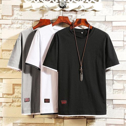 New Design Summer T Shirt Men Short-Sleeve  Tee Slim Fit Mens T Shirts