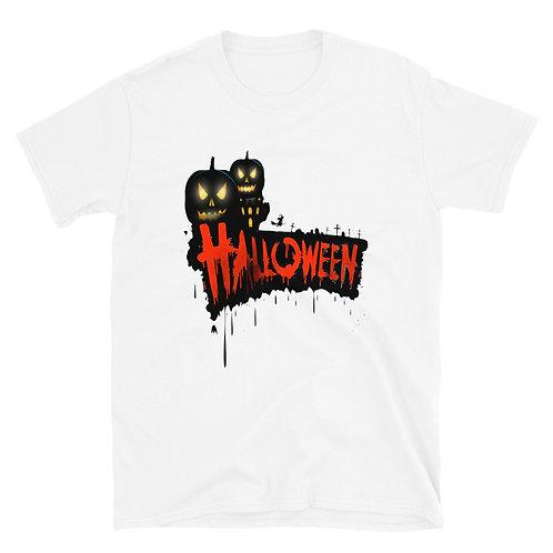 Halloween phrase with a terrifying pumpkin, Halloween Day Unisex T-Shirt