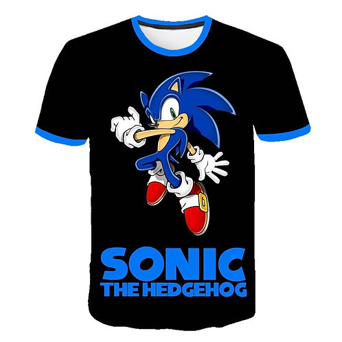 Boys Mario Supersonic Sonic Print Clothes 3D Funny TShirts Costume Children 2020