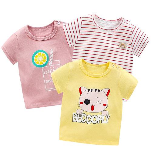Clothes Baby T-Shirt Kids Short Sleeve Shirt Girls Top Clothing Cotton Girls