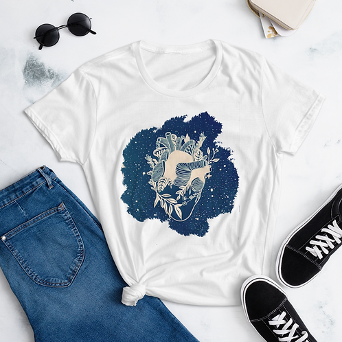 My heart is alive - Women's short sleeve t-shirt