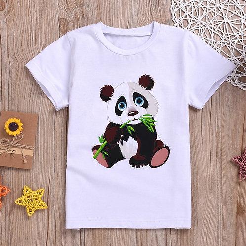 Newest 2020 Baby Girl Clothes Funny Kawaii Panda Cute Cartoon T Shirt Fashion