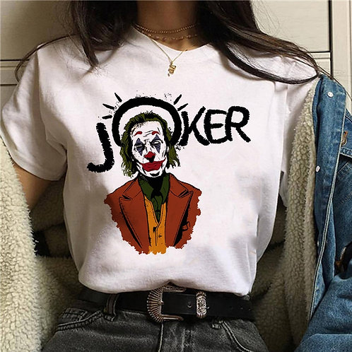 Joker 2019 Joaquin Phoenix Funny T-Shirt Women Summer New White Casual Homme
