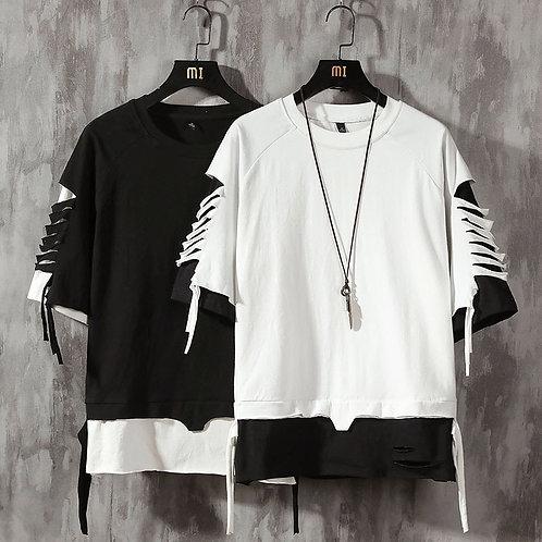 Short Sleeve T Shirt Men Hip Hop Mens Cotton Plus Size Tshirt O-Neck Summer Tee