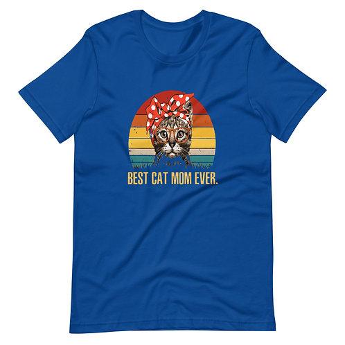 BEST CAT MOM EVER Short-Sleeve Women T-Shirt
