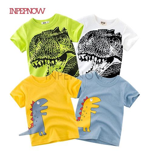 2020 Children's T-Shirts for Girls Tops Kids Tshirt Boys Dinosaur Shirts Clothes