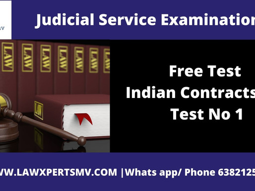 Free Test Indian Contracts Act Test No 1