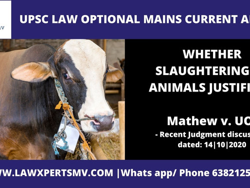 WHETHER ANIMAL SLAUGHTER JUSTIFIED ???
