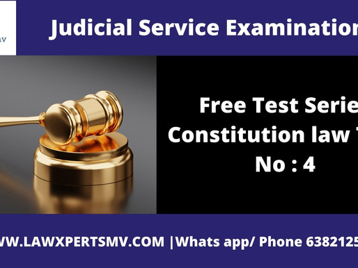 Free Test Series Constitution law Test No : 4
