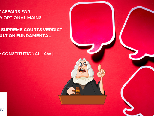 IS SUPREME COURTS VERDICT AN ASSAULT ON FUNDAMENTAL RIGHT ?