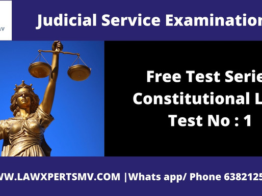 Free Test Series Constitutional Law Test No : 1