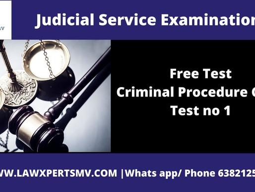 Free Test Criminal Procedure Code Test no 1