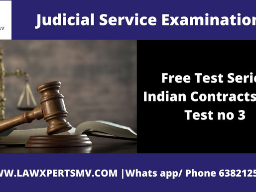 Free Test SeriesIndian Contracts Act Test no 3