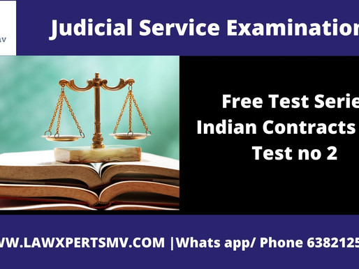 Free Test Series Indian Contracts Act Test no 2