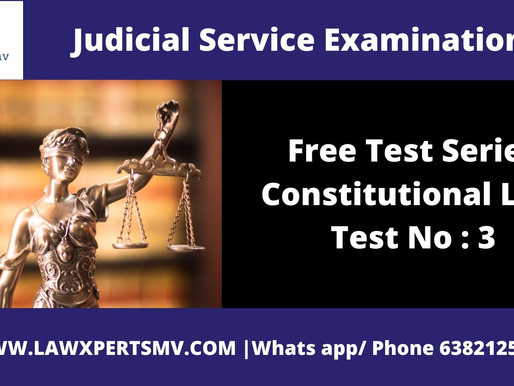 Free Test Series Constitution law Test No : 3