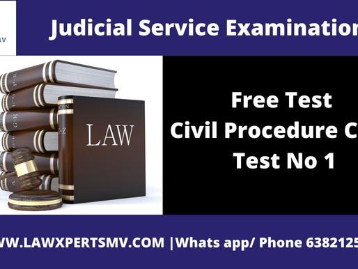 Free Test Civil Procedure Code Test No 1