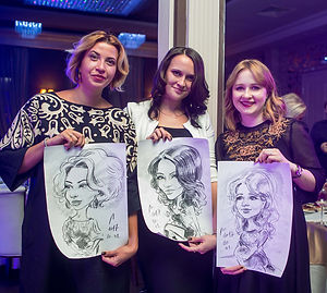 скетчи шаржи портреты на новогодние мероприятие