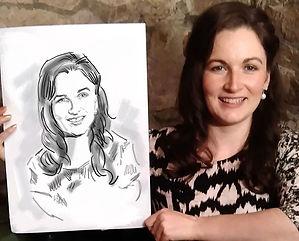 худодник на мероприятие портрет скетч маркером