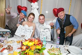 шаржист на свадьбу