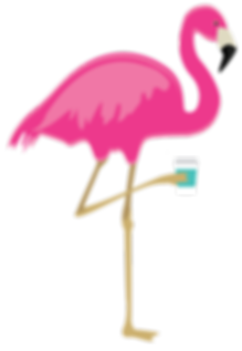 Rosie the Trailer Perk Flamingo