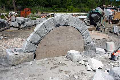 Each stone was hand carved to precise dimensions at my stoneyard in Kent.