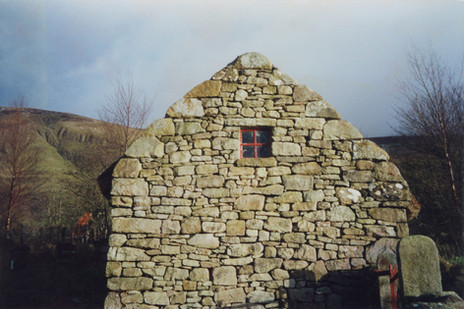"""I built this """"byre"""" or barn in Ireland where I grew up, in the traditional style using locally sourced and grown materials."""