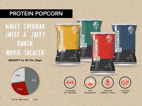 Protein Popcon, healthy snacks