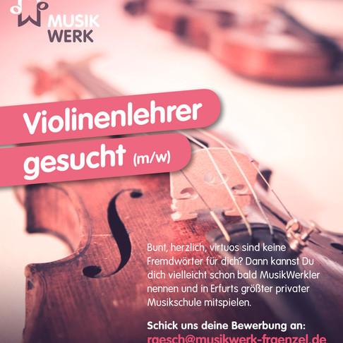 Lehrer für Violine (m/w)