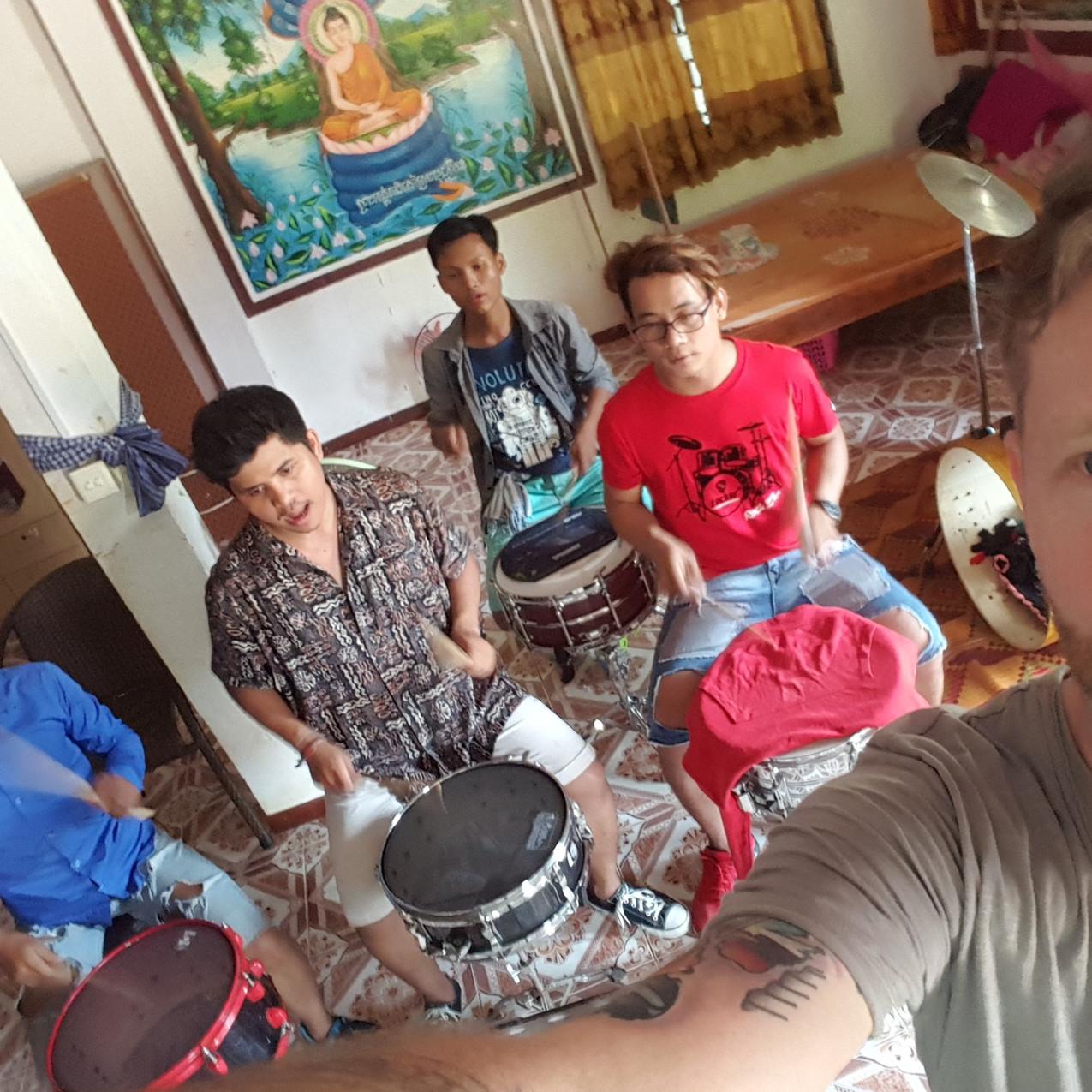 Schlagzeugstudenten