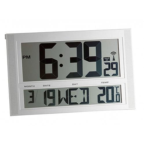 Horloge radio-pilotée avec température XXL