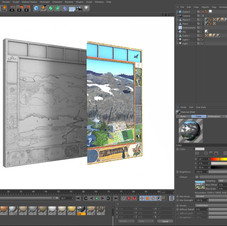 1. réalisation de la maquette numérique 3D pour le bas relief et pour la composition des couleurs