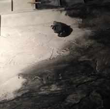 7. couche de fond au charbon