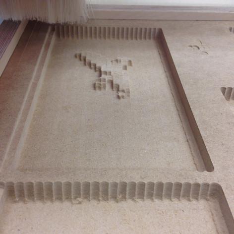 3. Usinage du bas relief au CNC