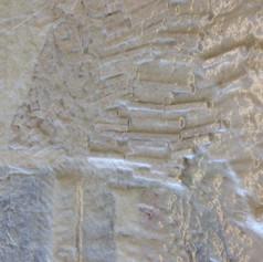 4. Compression de la pulpe sur la mosaïque à l'aide de la table sous-vide afin de capter les détails et textures