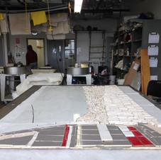 3. Recouvrement de la mosaïque avec trois livres de pulpe