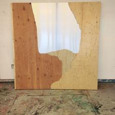 1. construction du faux-cadre,épaisseurs de contreplaqués et panneau d'alluminium