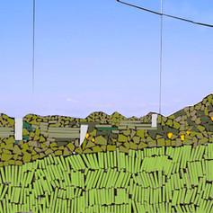 6. CompositionPhotoshop à partir de la mosaïque d'origine qui sera transférée dans l'empreinte papier