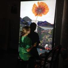 projection de la maquette numérique sur le tableau et traçage des zones principales au crayon plomb