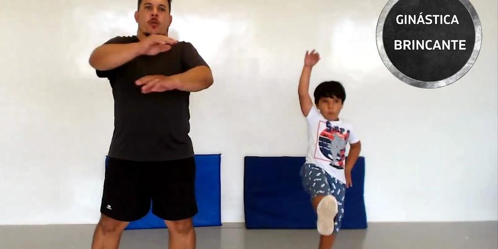 Oficina de ginástica brincante para a família com Leo Dias