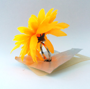 Flower Ring with Cardboard